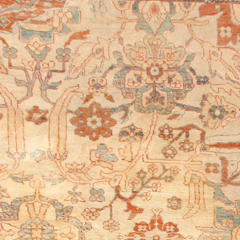 Wool Large Antique Ziegler Sultanabad Carpet. Size: 14 ft 5 in x 22 ft 3 in For Sale