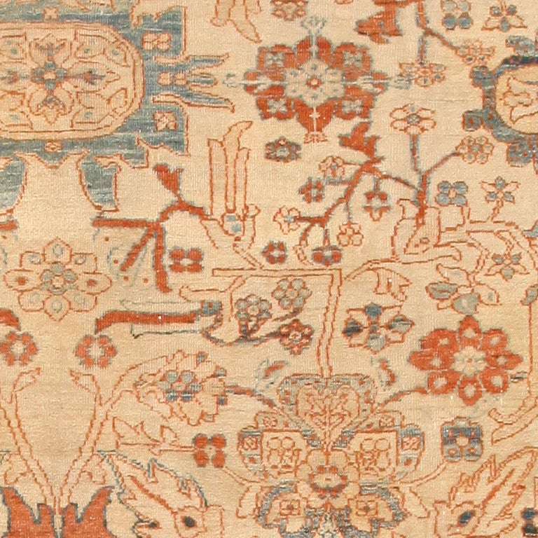 Large Antique Ziegler Sultanabad Carpet. Size: 14 ft 5 in x 22 ft 3 in For Sale 1