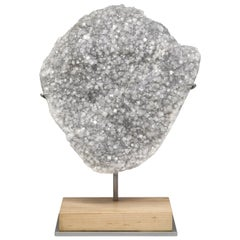 Large Apophyllite Crystal, Natural Mineral Specimen Sculpture from India