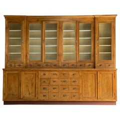 Large Apothecary Display Cabinet Pharmacy Chemist Shop, circa 1920s Number 1