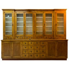 Large Apothecary Display Cabinet Pharmacy Chemist Shop circa 1920s Number 2