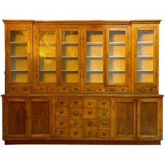 Large Apothecary Display Cabinet Pharmacy Chemist Shop circa 1920s Number 3