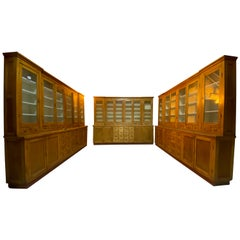 Large Apothecary Display Cabinet Pharmacy Chemist Shop circa 1920s Number 4