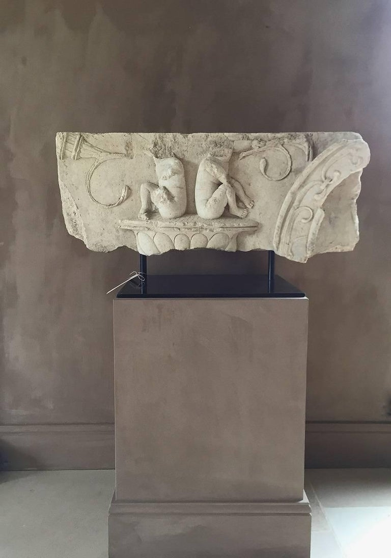 Baroque Large Architectural Fragment Frieze, 17th Century For Sale