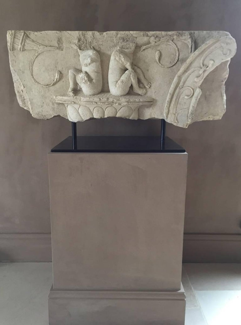 French Large Architectural Fragment Frieze, 17th Century For Sale