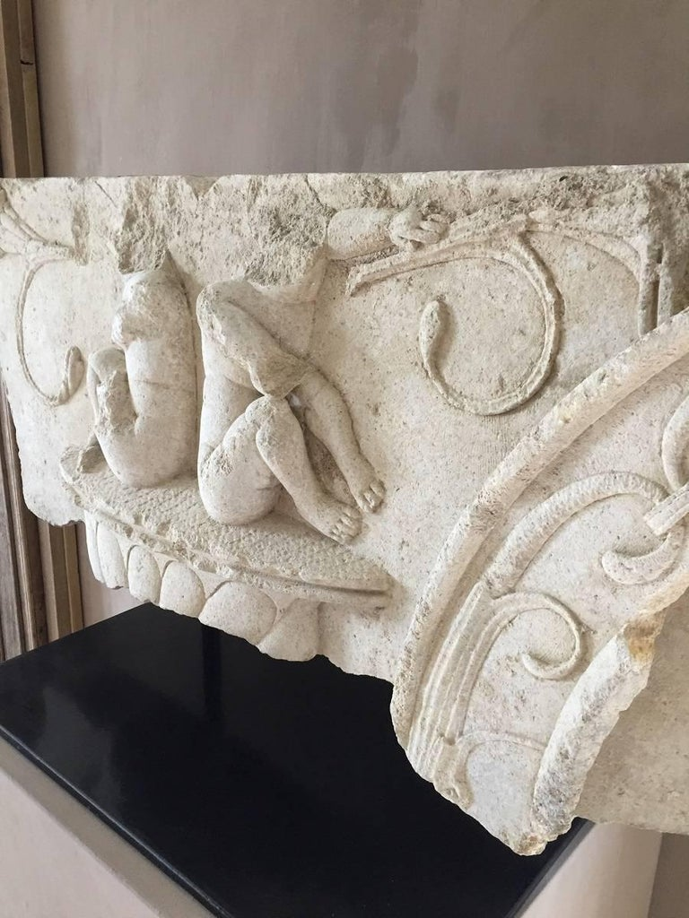 Large Architectural Fragment Frieze, 17th Century In Good Condition For Sale In Vosselaar, BE