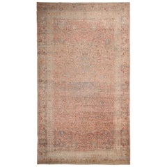 Large Ardabil Design Antique Persian Khorassan Carpet
