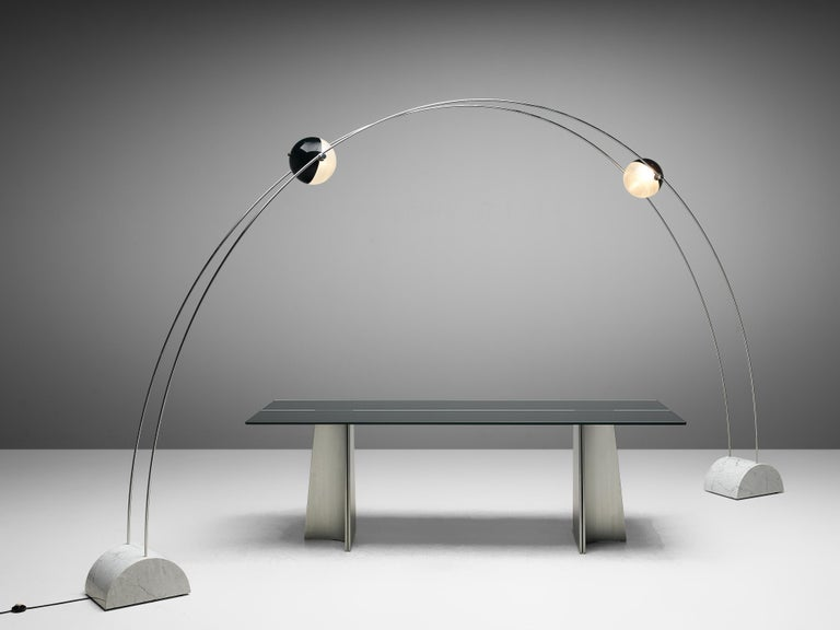 Large A.R.D.I.T.I. for Sormani Floor Lamp Model 'Ponte' in Marble and Metal For Sale 4