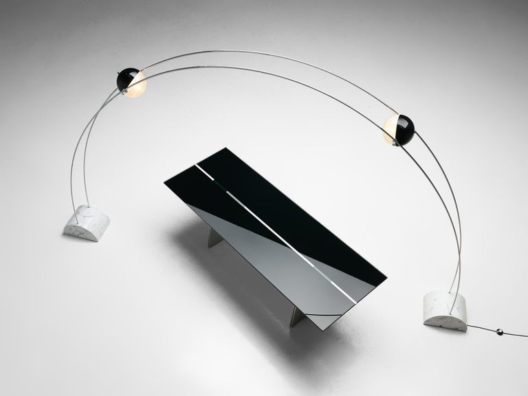 Large A.R.D.I.T.I. for Sormani Floor Lamp Model 'Ponte' in Marble and Metal For Sale 5
