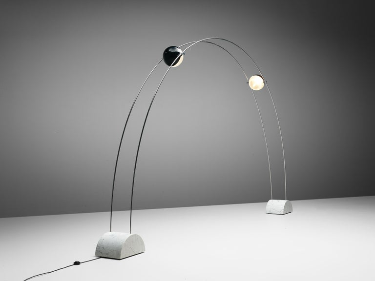 Italian Large A.R.D.I.T.I. for Sormani Floor Lamp Model 'Ponte' in Marble and Metal For Sale