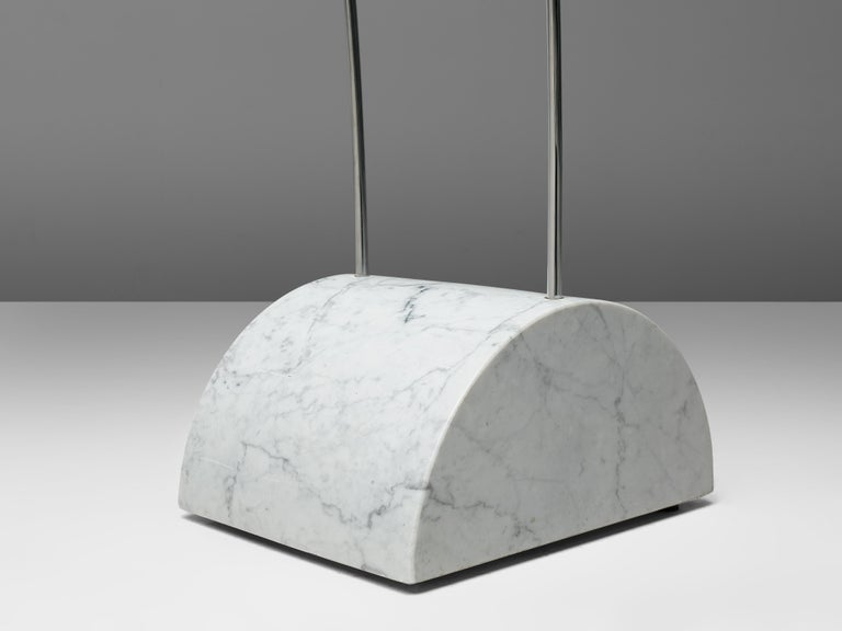 Large A.R.D.I.T.I. for Sormani Floor Lamp Model 'Ponte' in Marble and Metal In Good Condition For Sale In Waalwijk, NL