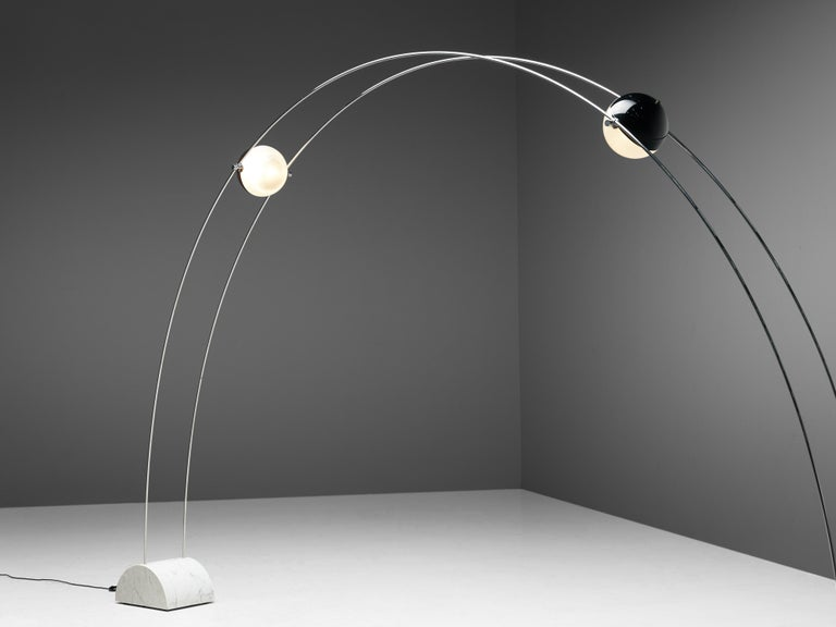 Steel Large A.R.D.I.T.I. for Sormani Floor Lamp Model 'Ponte' in Marble and Metal For Sale