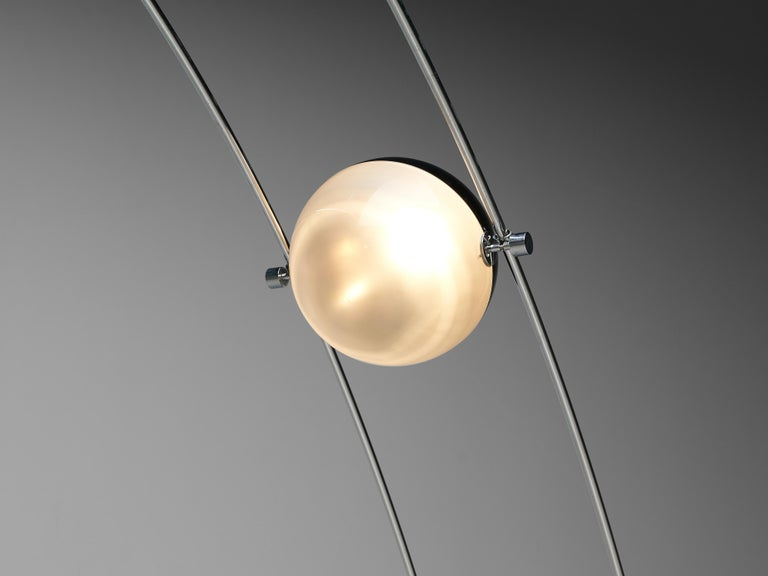 Large A.R.D.I.T.I. for Sormani Floor Lamp Model 'Ponte' in Marble and Metal For Sale 1