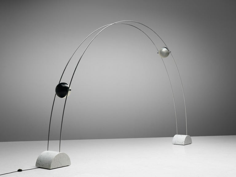 Large A.R.D.I.T.I. for Sormani Floor Lamp Model 'Ponte' in Marble and Metal For Sale 2
