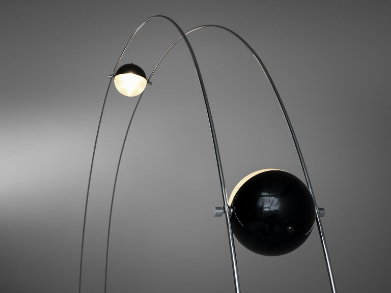 Arditi group for Sormani, floor lamp, in marble, plastic and metal, Italy, 1970s.