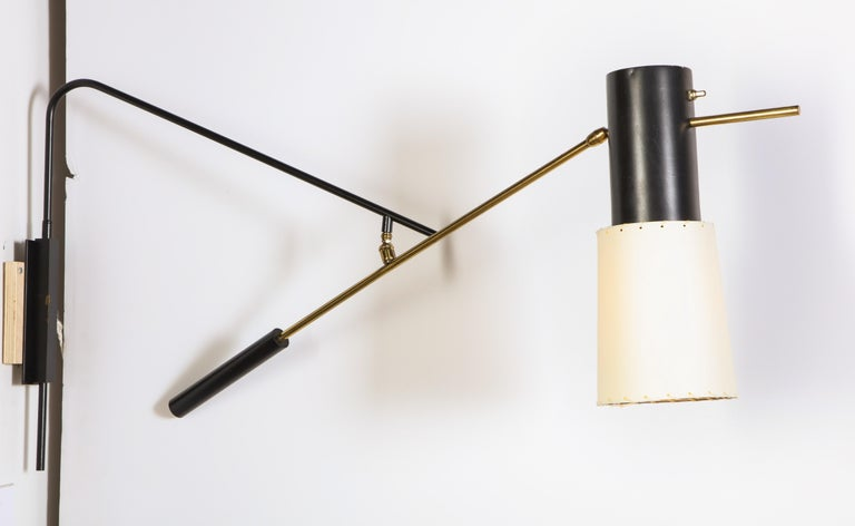 Mid-Century Modern Large Arlus Sconce For Sale