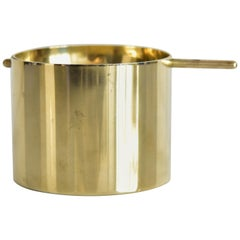 Large Arne Jacobsen Brass Ashtray by Stelton Made in Denmark