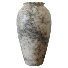 Large Art Deco Alabaster Vase, France 1930s
