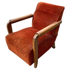 Large Art Deco Armchair in the Style of André Domin, circa 1930