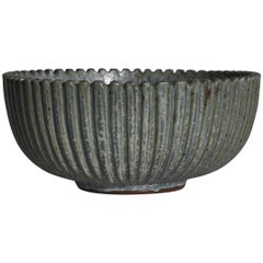 Large Art Deco Arne Bang Stoneware Bowl from Own Studio, 1930s