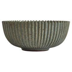 Large Art Deco Arne Bang Stoneware Bowl from Own Studio, 1930s
