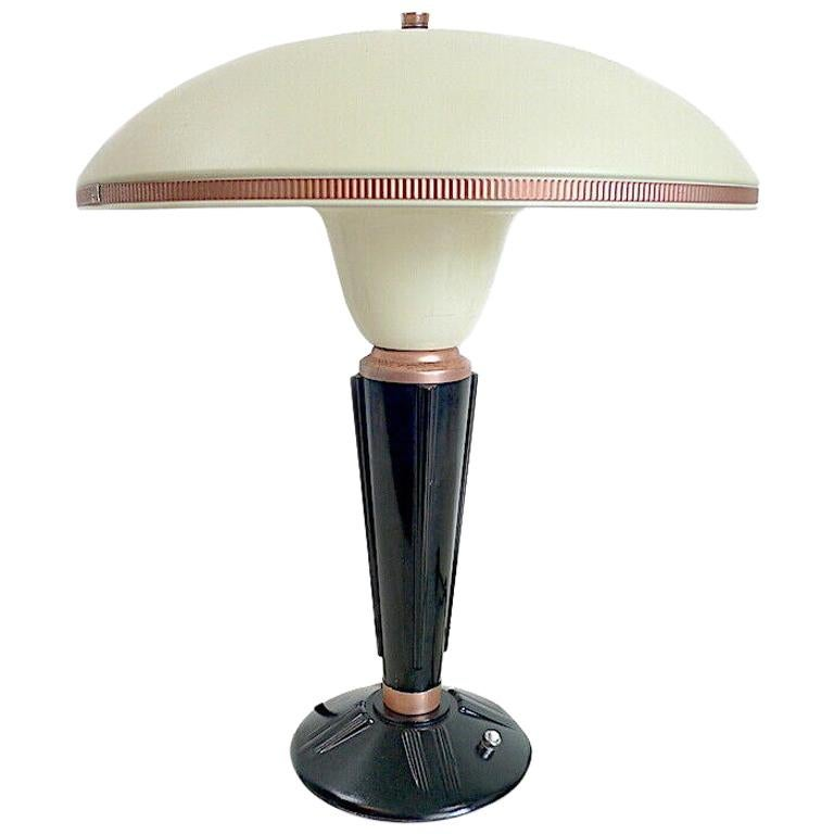 Large Art Deco Bakelite Table Lamp by Eileen Gray for Jumo, France For Sale