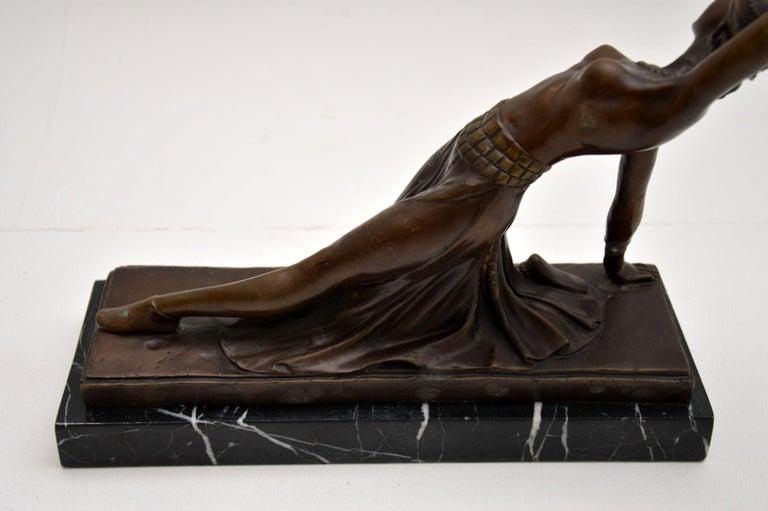Large Art Deco Bronze Dancing Nude Figure For Sale 5