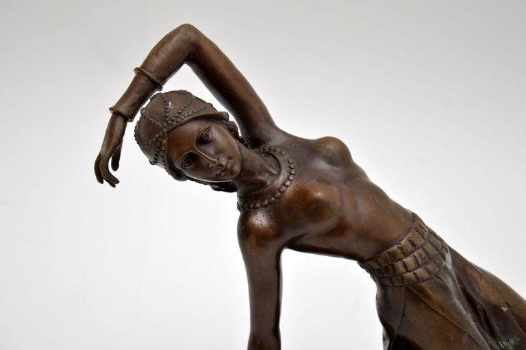 20th Century Large Art Deco Bronze Dancing Nude Figure For Sale