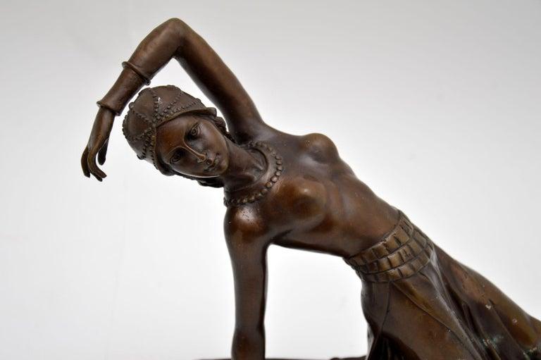 Large Art Deco Bronze Dancing Nude Figure For Sale 4