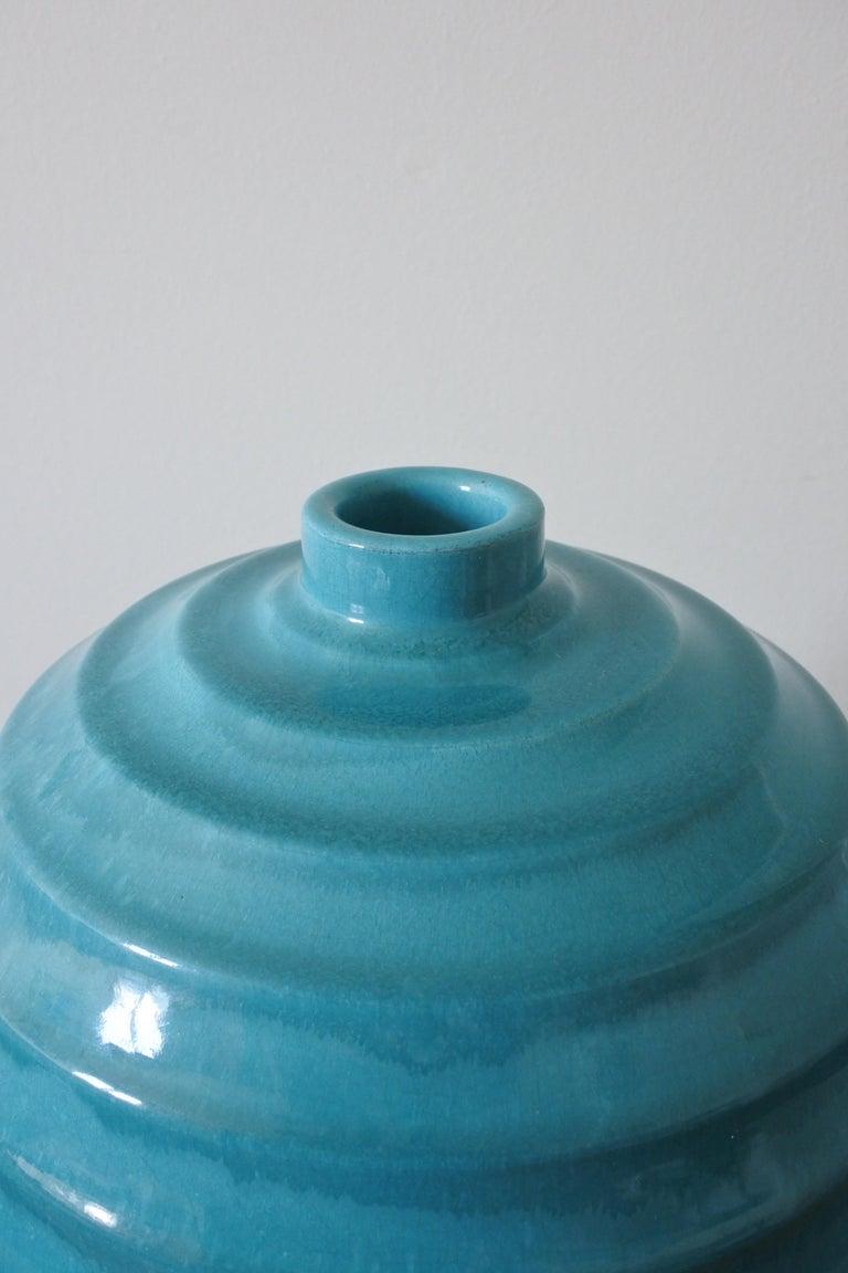 Large Art Deco Ceramic Vase by Primavera, France 1930s For Sale 5