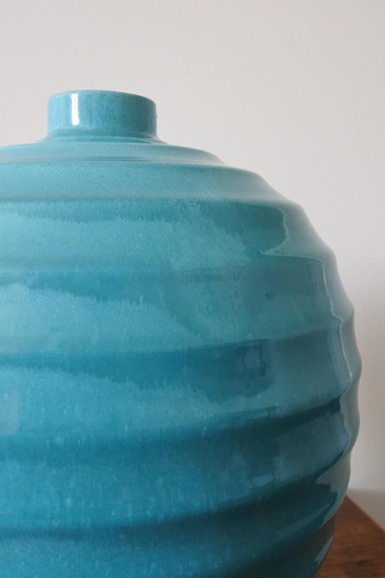 Large Art Deco Ceramic Vase by Primavera, France 1930s For Sale 6