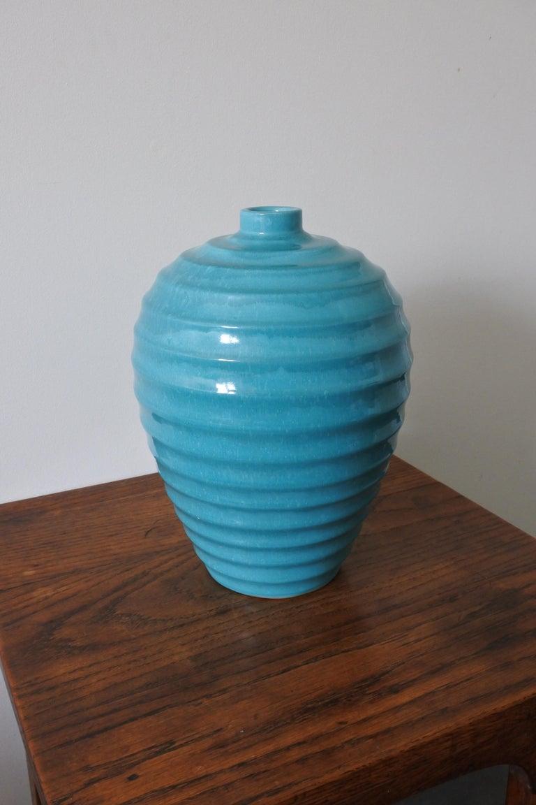 Large Art Deco Ceramic Vase by Primavera, France 1930s In Good Condition For Sale In La Teste De Buch, FR