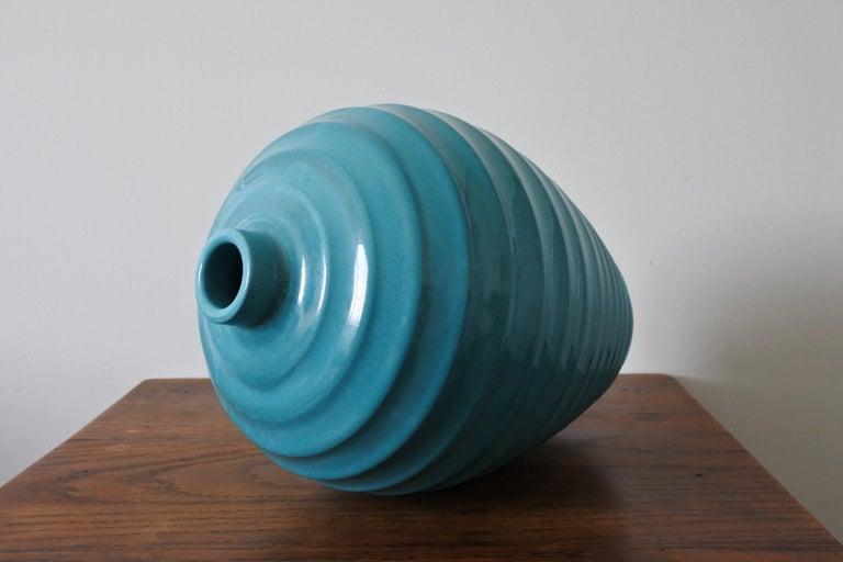 Large Art Deco Ceramic Vase by Primavera, France 1930s For Sale 1