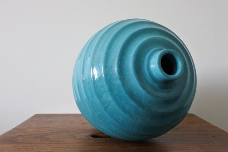 Large Art Deco Ceramic Vase by Primavera, France 1930s For Sale 2