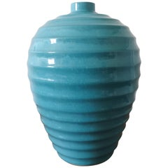 Large Art Deco Ceramic Vase by Primavera, France 1930s