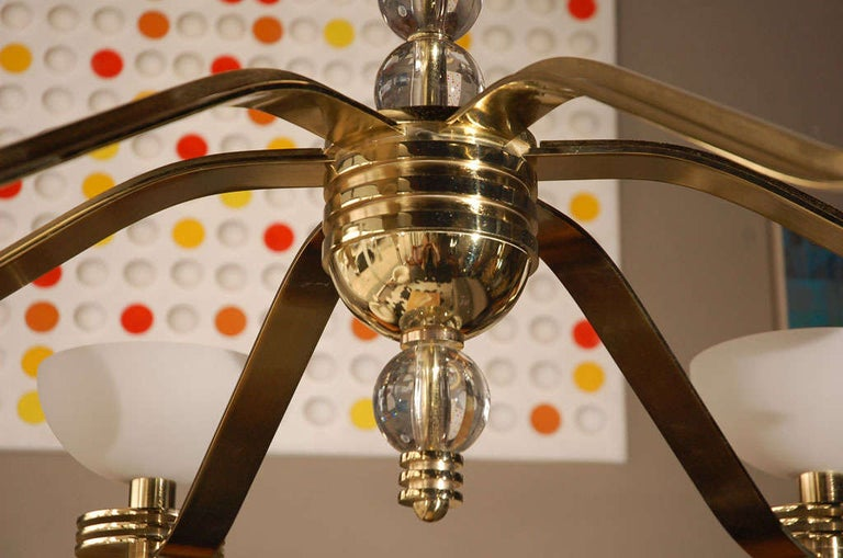 American Large Art Deco Style Chandelier by Bryan Cox For Sale