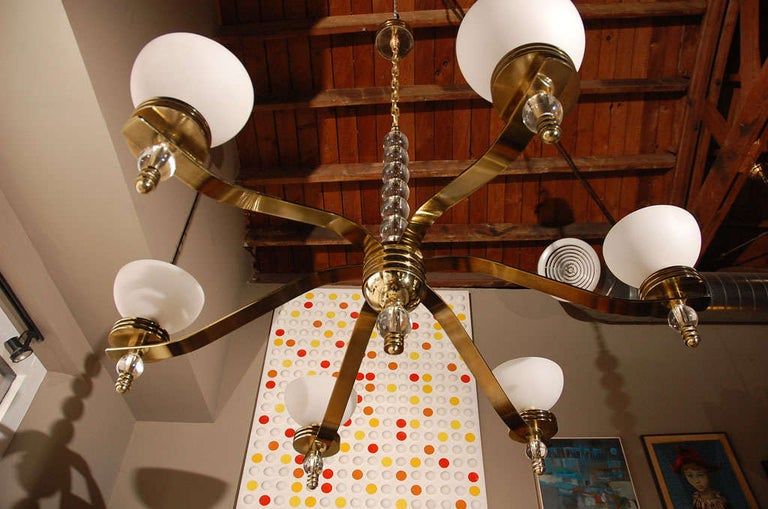 20th Century Large Art Deco Style Chandelier by Bryan Cox For Sale