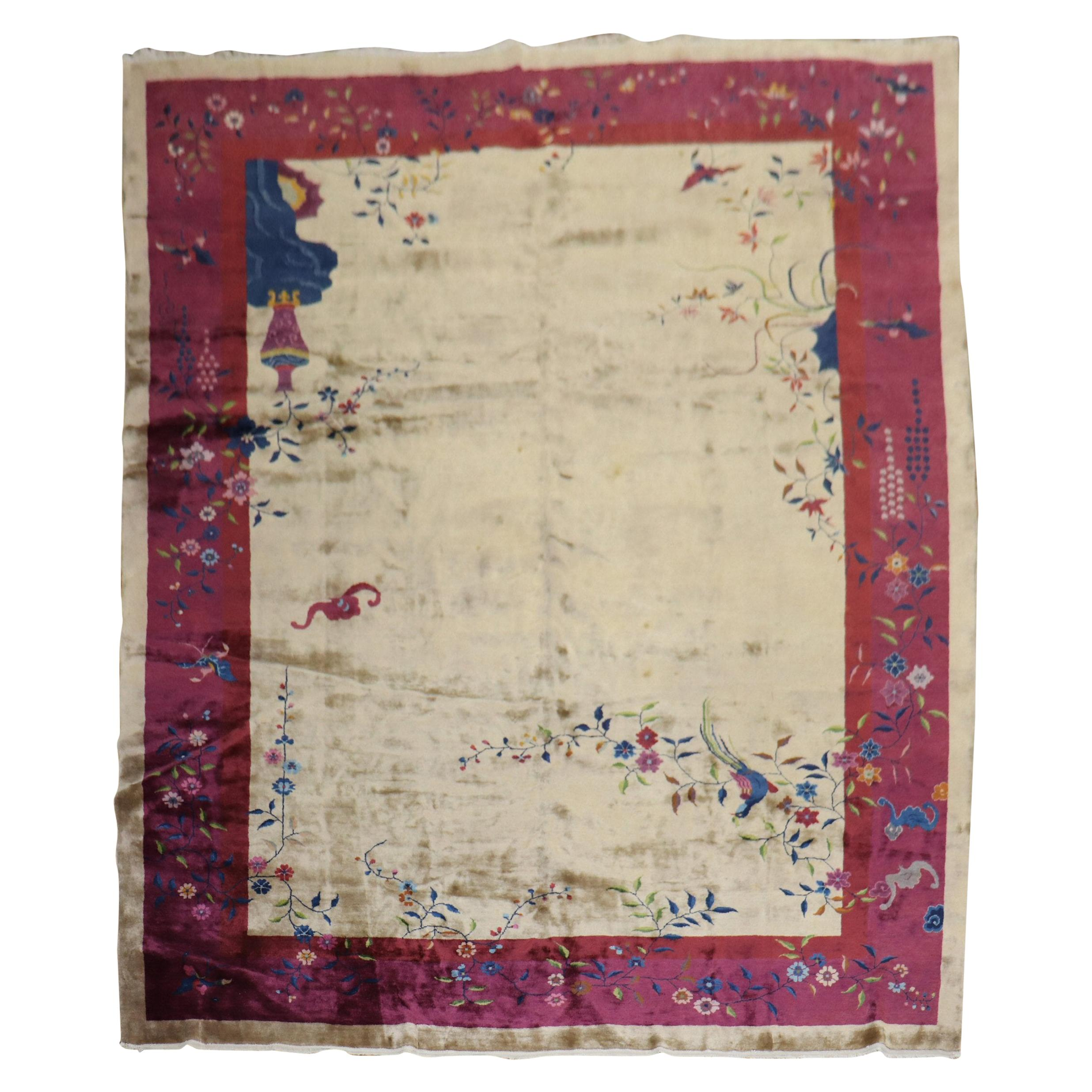 Large Art Deco Chinese Room Size Rug, 20th Century
