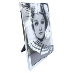 Large Art Deco Chrome Free Standing Picture Frame, circa 1930