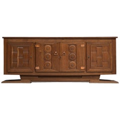 Large Art Deco Credenza in Oak