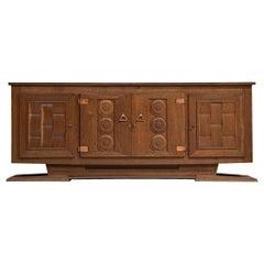 Large Art Deco Credenza in Oak