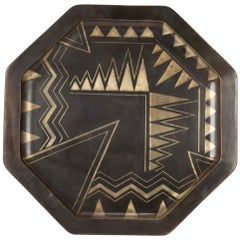 Large Art Deco Dinanderie Tray by Laurent L. Laurensou