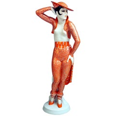 Art Deco Figurine Spanish Lady Dancer 'Carmen' Rosenthal Germany height 15.94 in