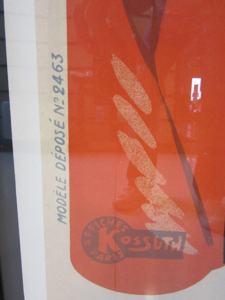 Large Art Deco French Furniture Store Poster by Affiches Kossuth Paris For Sale 3
