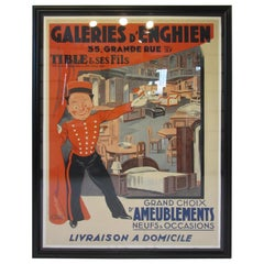 Large Art Deco French Furniture Store Poster by Affiches Kossuth Paris