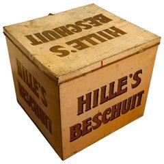 "Large Art Deco ""Hille's Beschuit"" Grocers Biscuit Tin"