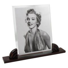 Large Art Deco Macassar Wood Picture Frame