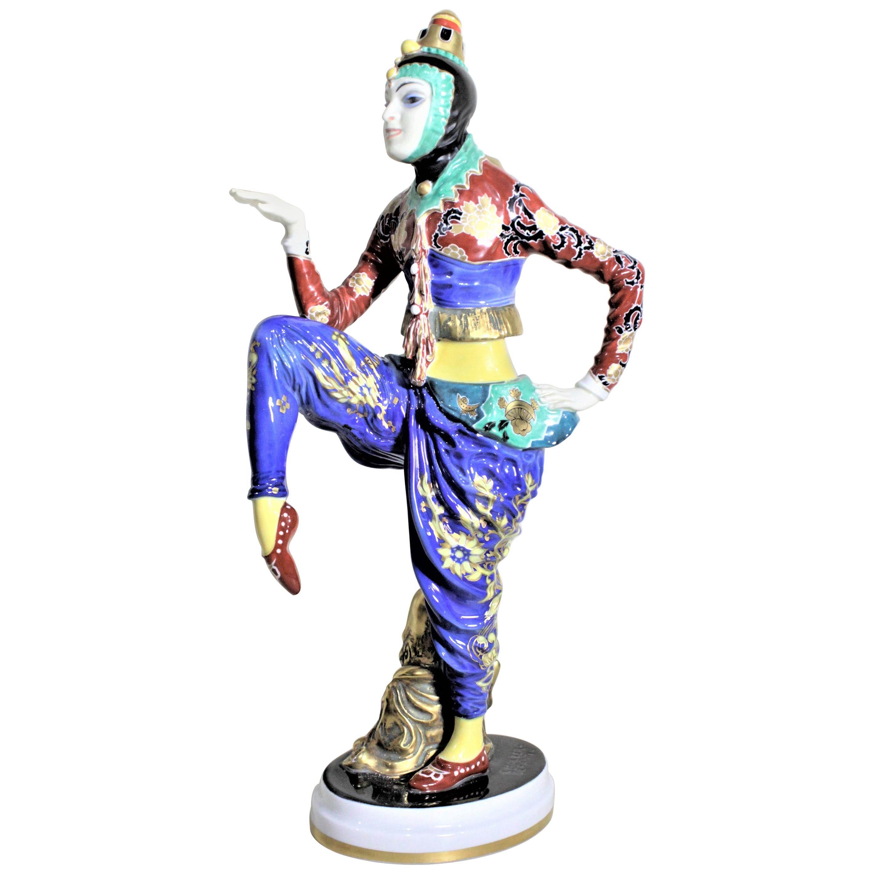 Large Art Deco Rosenthal Porcelain Figurine The Korean Dancer H566