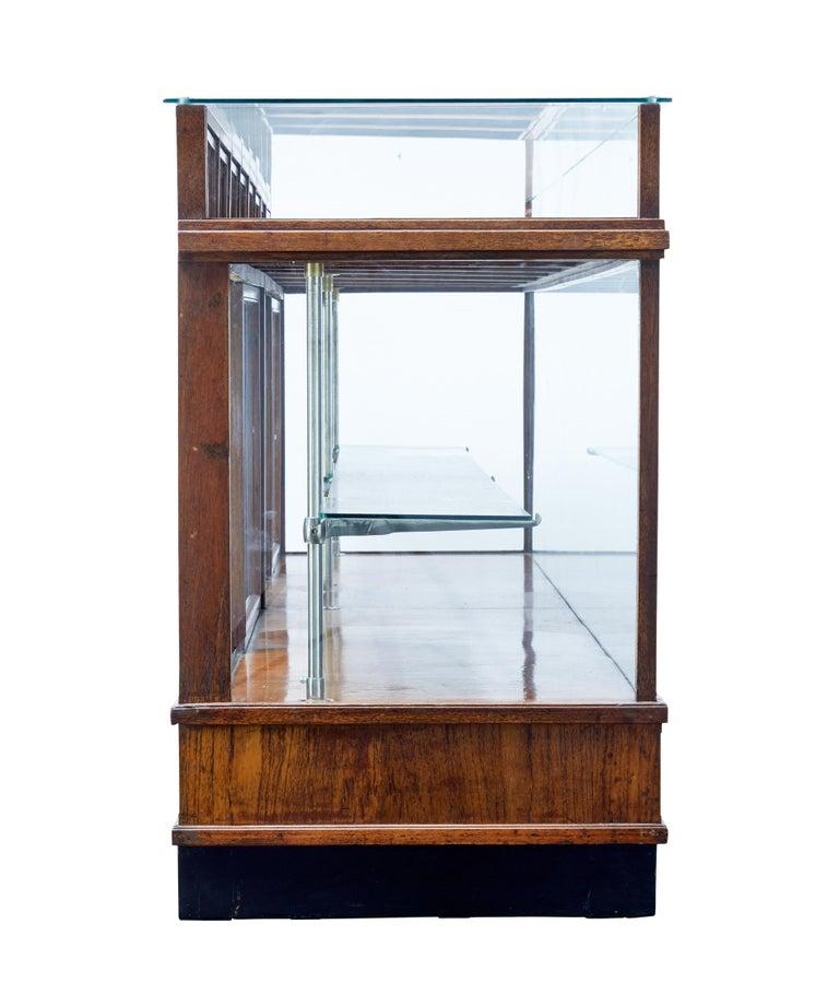 Swedish Large Art Deco Scandinavian Teak Haberdashery Shop Cabinet