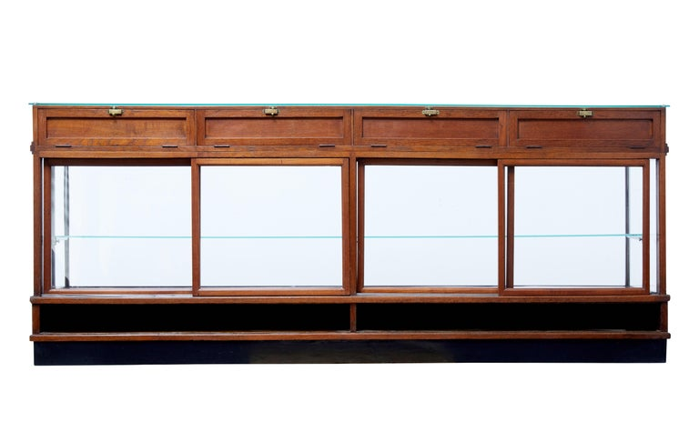 Woodwork Large Art Deco Scandinavian Teak Haberdashery Shop Cabinet
